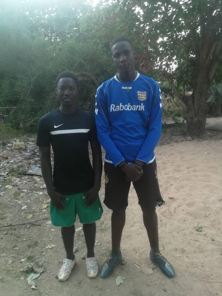 Die Trainer Patrick Jatta und Demba Beyai